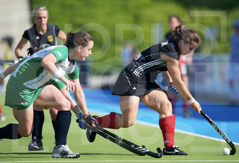 MONCHENGLADBACH - Euronations women and men hockey.Germany vs Ireland.foto: Luisa Steindor (black)..FFU Press Agency  COPYRIGHT FRANK UIJLENBROEK..