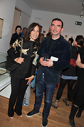 OLIVIA HARRISON and SIMON ABOUD at a private view of work by the late Rory McEwen - The Colours of Reality, held at the Shirley Sherwood Gallery, Kew Gardens, London on 20th May 2013.