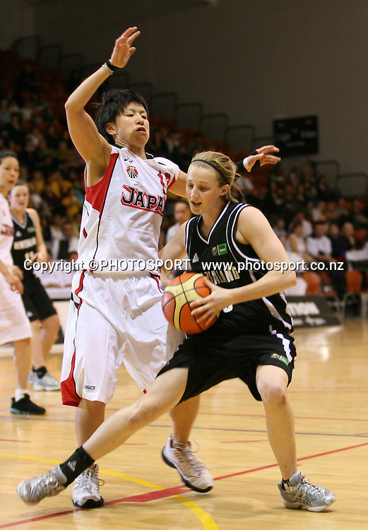 New Zealand's Erin Rooney. International basketball, Tall Ferns v Japan, PG Arena, Napier, Thursday 27 August 2009. Photo: John Cowpland/PHOTOSPORT