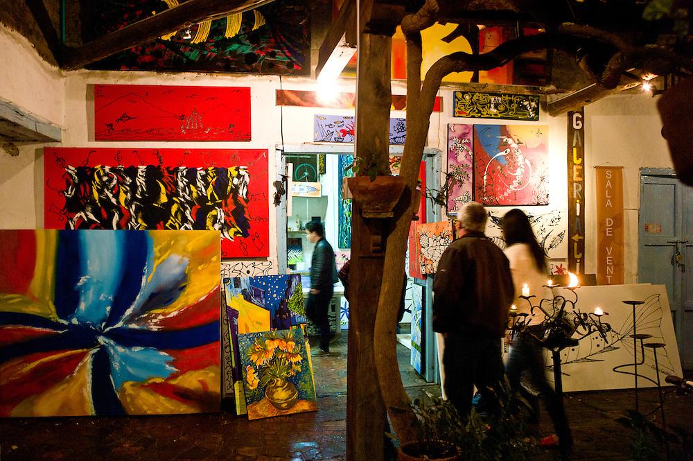 Artist's shop in Villa de Leyva.