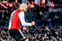 ROTTERDAM - Feyenoord - ADO Den Haag , Voetbal , KNVB Beker , Seizoen 2016/2017 , De Kuip , 14-12-2016 , Feyenoord speler Karim El Ahmadi viert zijn goal