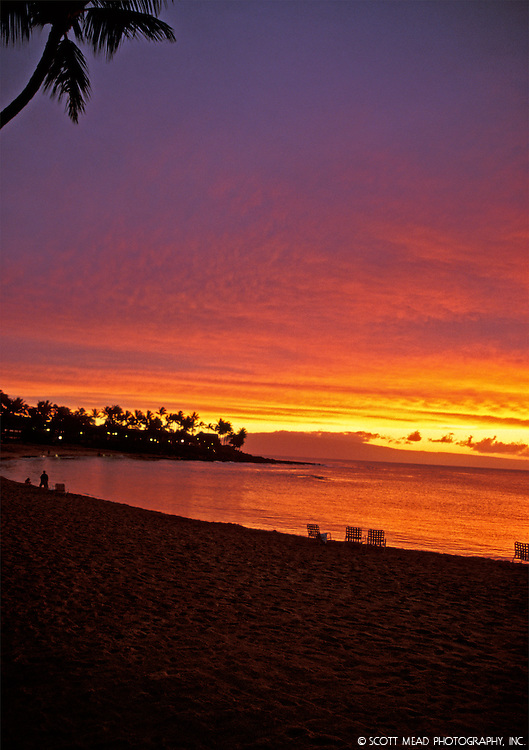 Napili Bay sunset, Maui Hawaii