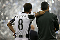 03.06.2017 - Cardiff - Finale di Champions League -  Juventus-Real Madrid nella  foto: Claudio Marchisio guarda Real Madrid