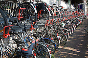 Double bicycle rack Haarlem Holland