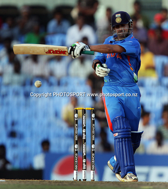 Gautam Gambhir batting during the India v New Zealand 2011 ICC World Cup Warm up game. MA Chidambaram Stadium, Chennai, India. 16 February 2011. Photo: photosport.co.nz