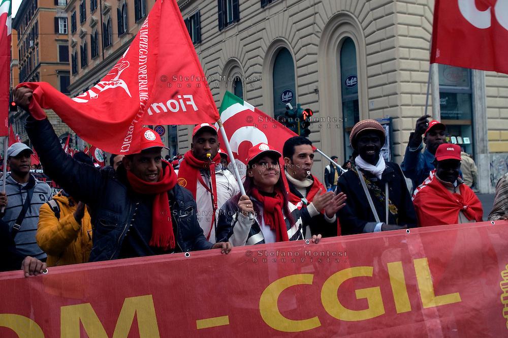 Roma 17 Ottobre 2009.Manifestazione nazionale contro il razzismo e discriminazioni e violazione dei diritti umani.October 17, 2009.National demonstration against racism and discrimination and violation of human rights.
