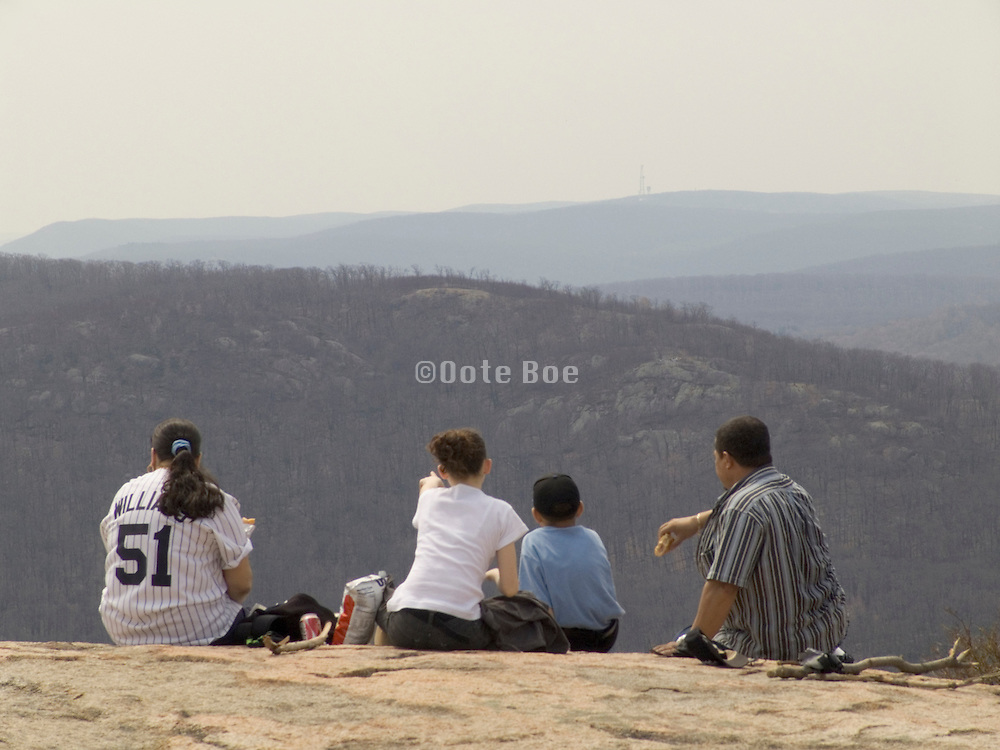 A family gathering on Sundays on top of Bear Mountain NY
