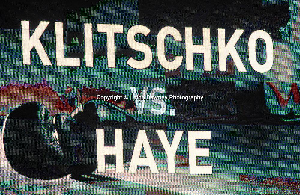 TV screen at Imtech Arena, Hamburg, Germany, 2nd July 2011. Photo credit: Leigh Dawney 2011