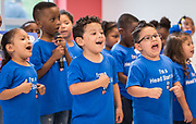 Students perform during a ribbon cutting ceremony for the new Baytown Head Start and Early Head Start facility, May 23, 2019.