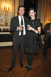 GAWAIN RAINEY and JASMINE GUINNESS at a party to celebrate the publication of 'Arthur's Road' a biography of Arthur Guinness written by Patrick Guinness held at the Irish Embassy, London on 6th March 2008.<br /><br />NON EXCLUSIVE - WORLD RIGHTS