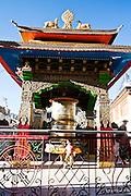 Prayer wheel in Leh.
