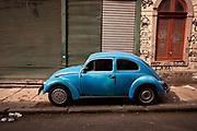 OLD BLUE VOLKSWAGEN BEETLE RIO