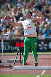 SAWYER Jayden, AUS, Shot Put, F38, 2013 IPC Athletics World Championships, Lyon, France