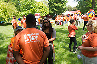 """Organizations pushing to get rid of gun violence came together Saturday afternoon, June 5th, 2017 for the Party for Peace, an event designed to raise awareness about issues related to gun violence by using live music and education. This event was held in Washington Park located at 51st and Hyde park Blvd and was sponsored by the organization Everytown for Gun Safety.<br /> <br /> 7020 – Members of Mom's Demand Action, one of the organizations promoting the event.<br /> <br /> Please 'Like' """"Spencer Bibbs Photography"""" on Facebook.<br /> <br /> All rights to this photo are owned by Spencer Bibbs of Spencer Bibbs Photography and may only be used in any way shape or form, whole or in part with written permission by the owner of the photo, Spencer Bibbs.<br /> <br /> For all of your photography needs, please contact Spencer Bibbs at 773-895-4744. I can also be reached in the following ways:<br /> <br /> Website – www.spbdigitalconcepts.photoshelter.com<br /> <br /> Text - Text """"Spencer Bibbs"""" to 72727<br /> <br /> Email – spencerbibbsphotography@yahoo.com"""