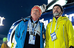 04.03.2017, Lahti, FIN, FIS Weltmeisterschaften Ski Nordisch, Lahti 2017, Skisprung Herren, Team, im Bild FIS Renndirektor Walter Hofer, Hubert Neuper // <br /> FIS Race Director Walter Hofer and Hubert Neuper // during Mens Team Skijumping of FIS Nordic Ski World Championships 2017. Lahti, Finland on 2017/03/04. EXPA Pictures © 2017, PhotoCredit: EXPA/ JFK