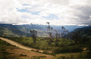 Views from the road or the train in the Andean Highlands of Bolivia.