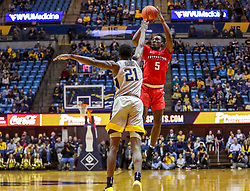Dec 1, 2018; Morgantown, WV, USA; Youngstown State Penguins guard Kendale Hampton (5) shoots during the first half against the West Virginia Mountaineers at WVU Coliseum. Mandatory Credit: Ben Queen-USA TODAY Sports