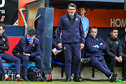 Luton Town interim manager Mick Harford during the EFL Sky Bet League 1 match between Luton Town and Oxford United at Kenilworth Road, Luton, England on 4 May 2019.