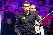 Mark Selby looking to take a 2 frame advantage during  the World Snooker 19.com Scottish Open Final Mark Selby vs Jack Lisowski at the Emirates Arena, Glasgow, Scotland on 15 December 2019.