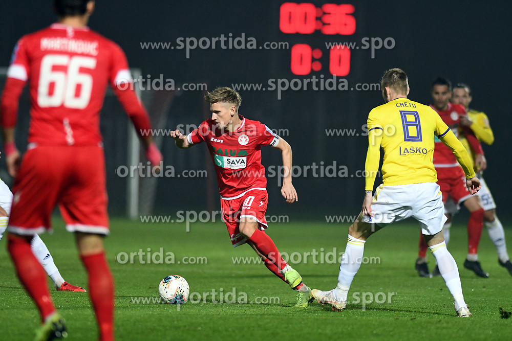 Matic Vrbanec of Aluminij during football match between NK Aluminij and NK Maribor in 18th Round of Prva liga Telekom Slovenije 2019/20, on November 24, 2019 in Sportni park Aluminij, Kidricevo Slovenia. Photo by Milos Vujinovic / Sportida