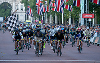 Cam Gutteridge (No70) wins The Brompton World Championship. Saturday 28th July 2018<br /> <br /> Photo: Bob Martin for Prudential RideLondon<br /> <br /> Prudential RideLondon is the world's greatest festival of cycling, involving 100,000+ cyclists - from Olympic champions to a free family fun ride - riding in events over closed roads in London and Surrey over the weekend of 28th and 29th July 2018<br /> <br /> See www.PrudentialRideLondon.co.uk for more.<br /> <br /> For further information: media@londonmarathonevents.co.uk