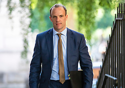 © Licensed to London News Pictures. 29/07/2019. London, UK. Foreign Secretary Dominic Raab arrives on Downing Street for the first Brexit 'War Cabinet' of Boris Johnson's Prime Ministership. Photo credit: Rob Pinney/LNP