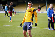 Southend United defender John White (2) during the warm up before the EFL Sky Bet League 1 match between Southend United and Scunthorpe United at Roots Hall, Southend, England on 4 February 2017. Photo by Nigel Cole.