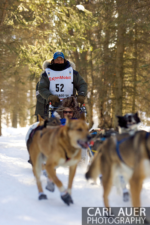 March 7th, 2009:  Anchorage, Alaska - Kim Darst of Blairstown, New Jersey during the start of the 2009 Iditarod.