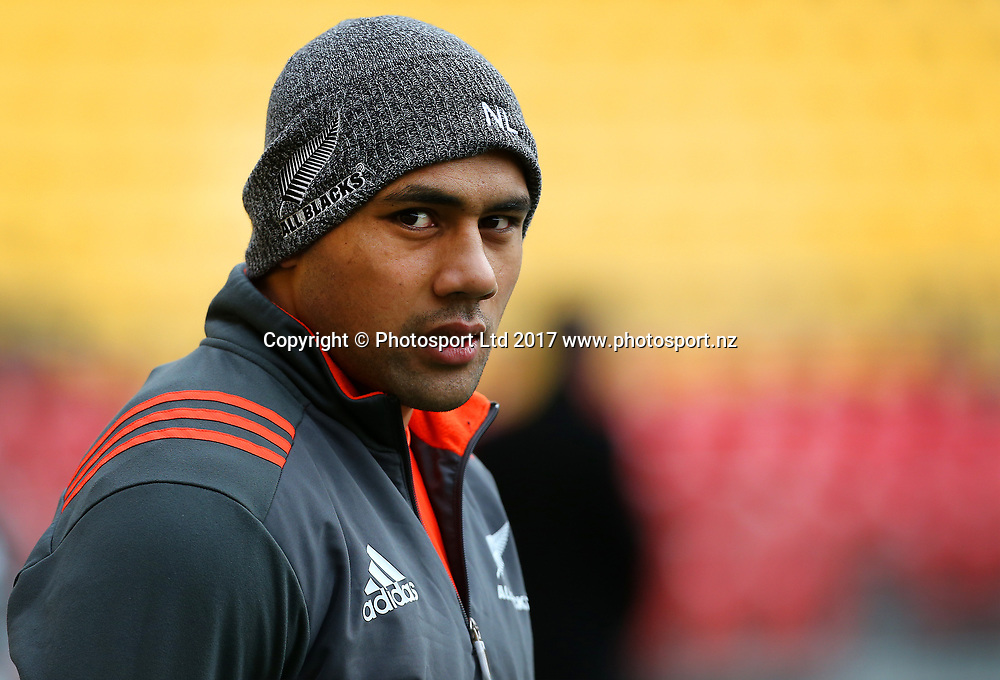 Ngani Laumape during the All Blacks Captains run & Press conference. Westpac Stadium, Wellington, New Zealand. 30 June 2017. © Copyright Photo: Grant Down / photosport.nz