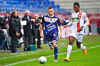 Karim AZAMOUM / Birama TOURE - 10.01.2014 - Troyes / Brest - 19e journee Ligue 2<br /> Photo : Dave Winter / Icon Sport