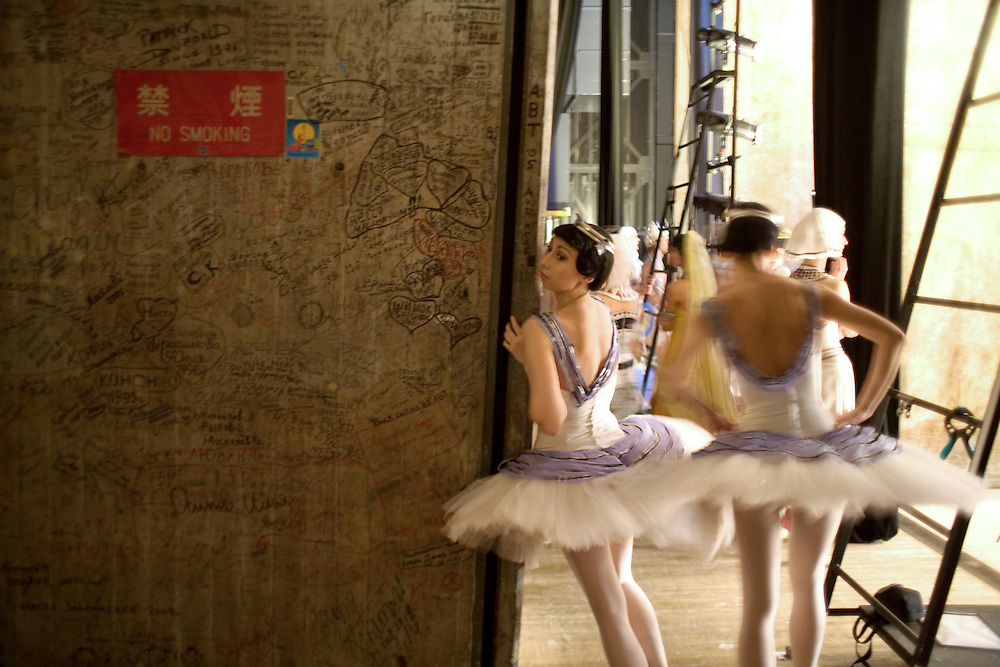 backstage, Ballerina, Ballet, behind the scenes, Bolshoi, bolshoi ballet, Color, dance, japan, Japanese, onstage, reportage, russian, Russian Ballet, woman