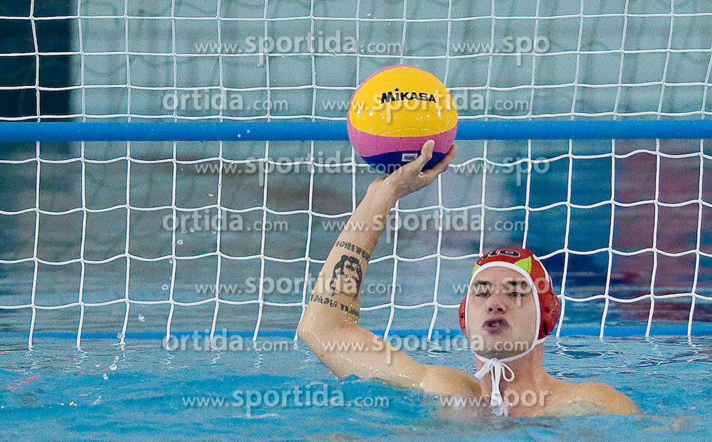 Goalkeeper of Slovenia Luka Prelc at waterpolo match between National men teams of Slovenia and Bulgaria in Qualifications for European Championships in Eindhoven 2012 on October 30, 2010 in Zusterna pool, Koper Slovenia. Slovenia defeated Bulgaria 31 - 5. (Photo By Vid Ponikvar / Sportida.com)
