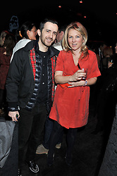 KINDER AGGUGINI and CHARLOTTE MOORE editor of Marie Claire Runway at a party to celebrate the launch of the Marie Claire Runway Magazine held at Le Baron a The Embassy, Old Burlington Street, London on 1st February 2012.