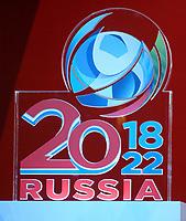 Fotball<br /> Russland søker fotball-VM 2018 / 2022<br /> Foto: Witters/Digitalsport<br /> NORWAY ONLY<br /> <br /> 09.10.2009<br /> <br /> Logo<br /> Offizielle Zeremonie zum Auftakt der Bewerbung Russlands fuer die FIFA Fussball WM 2018/ 2022 im Kaufhaus GUM
