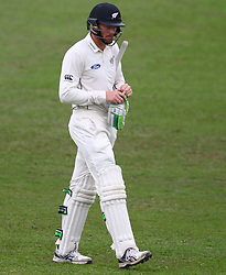 Martin Guptill during day two of the first test match between South Africa and New Zealand held at the Kingsmead stadium in Durban, KwaZulu Natal, South Africa on the 20th August 2016<br /> <br /> Photo by:   Anesh Debiky / Real Time Images