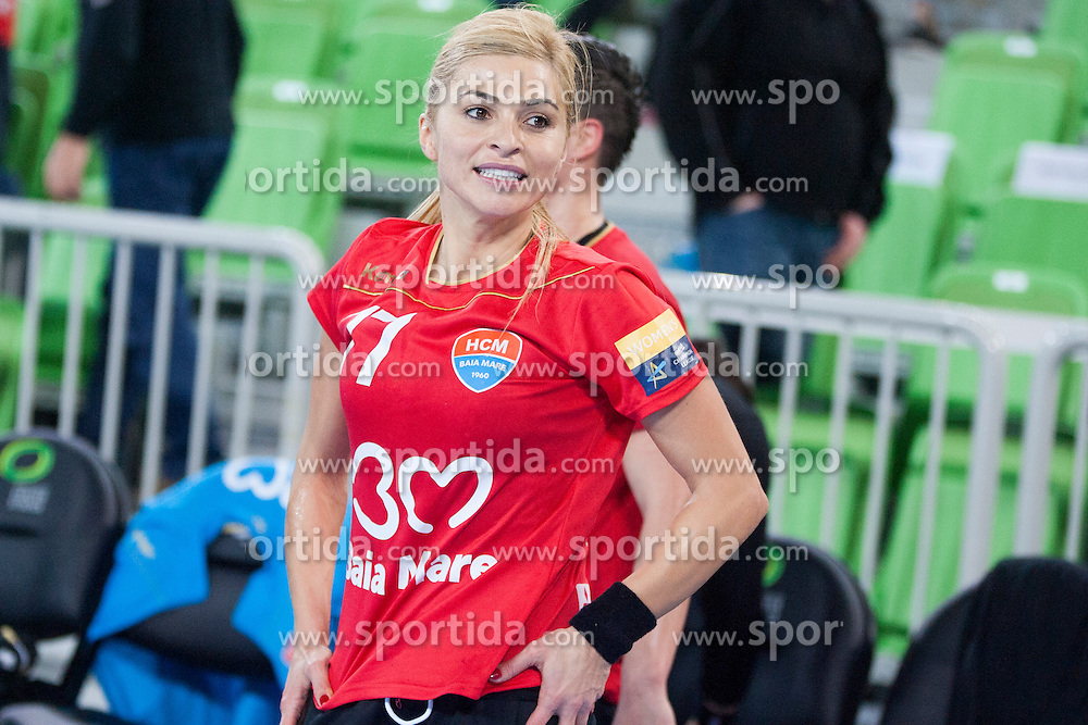 Adriana Nechita of HCM Baia Mare during handball match between RK Krim Mercator (SLO) and HCM Baia Mare (ROM) in 1st Round of Women's EHF Champions League 2015/16, on October 16, 2015 in Arena Stozice, Ljubljana, Slovenia. Photo by Urban Urbanc / Sportida