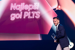 Dino Hotic of NK Maribor with reward for best goal in Prva Liga Telekom Slovenije during SPINS XI Nogometna Gala 2019 event when presented best football players of Prva liga Telekom Slovenije in season 2018/19, on May 19, 2019 in Slovene National Theatre Opera and Ballet Ljubljana, Slovenia. Photo by Grega Valancic / Sportida.com