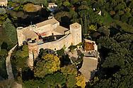 France, Languedoc Roussillon, Gard (30), Uzège, région Uzès, la Capelle-et-Masmolène, vue aérienne