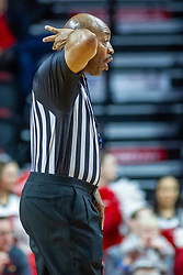 NORMAL, IL - December 18:  Antinio Petty calls an offensive player control foul during a college basketball game between the ISU Redbirds and the UIC Flames on December 18 2019 at Redbird Arena in Normal, IL. (Photo by Alan Look)