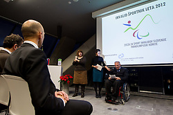 Joze Okoren during Slovenian Disabled Sports personality of the year 2012 event on December 6, 2012 in Kristalna palace, Ljubljana, Slovenia. (Photo By Vid Ponikvar / Sportida)