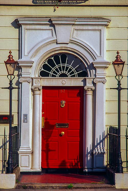 Georgian doorway, Merrion Square, Dublin, Ireland