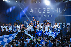 Brighton & Hove Albion celebrate at their Promotion Parade on the main stage - Mandatory by-line: Jason Brown/JMP - 14/05/17 - FOOTBALL - Brighton and Hove Albion, Sky Bet Championship 2017 - Brighton and Hove Albion Promotion Parade