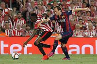 Barcelona´s Rakitic (R) and Athletic de Bilbao´s Inaki Williams Dannis during 2014-15 Copa del Rey final match between Barcelona and Athletic de Bilbao at Camp Nou stadium in Barcelona, Spain. May 30, 2015. (ALTERPHOTOS/Victor Blanco)