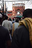 The end of afternoon at Jama Masjid on the last day of Ramadan.