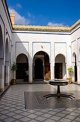 A courtyard in the Bahia Palace in Marrakech, Morocco, North Africa<br /> <br /> <br /> (c) Andrew Wilson | Edinburgh Elite media