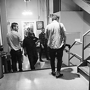 Portugal. The Man backstage at The Wiltern Theatre on July 12, 2013 in Los Angeles, California.