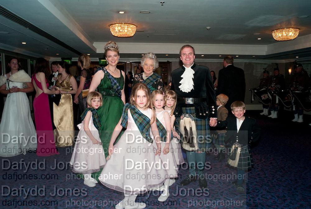 LADY DALMENY; THE COUNTESS OF ROSEBERY; LORD DALMENY; The Royal Caledonian Ball 2010. Grosvenor House. Park Lane. London. 30 April 2010 *** Local Caption *** -DO NOT ARCHIVE-© Copyright Photograph by Dafydd Jones. 248 Clapham Rd. London SW9 0PZ. Tel 0207 820 0771. www.dafjones.com.<br /> LADY DALMENY; THE COUNTESS OF ROSEBERY; LORD DALMENY; The Royal Caledonian Ball 2010. Grosvenor House. Park Lane. London. 30 April 2010