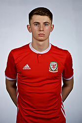 NANNING, CHINA - Saturday, March 24, 2018: Wales' Ben Woodburn during a squad photo shoot at the Wanda Realm Hotel on day five of the 2018 Gree China Cup International Football Championship. (Pic by David Rawcliffe/Propaganda)