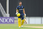 Rilee Rossouw during the Royal London One Day Cup match between Hampshire County Cricket Club and Middlesex County Cricket Club at the Ageas Bowl, Southampton, United Kingdom on 23 April 2019.