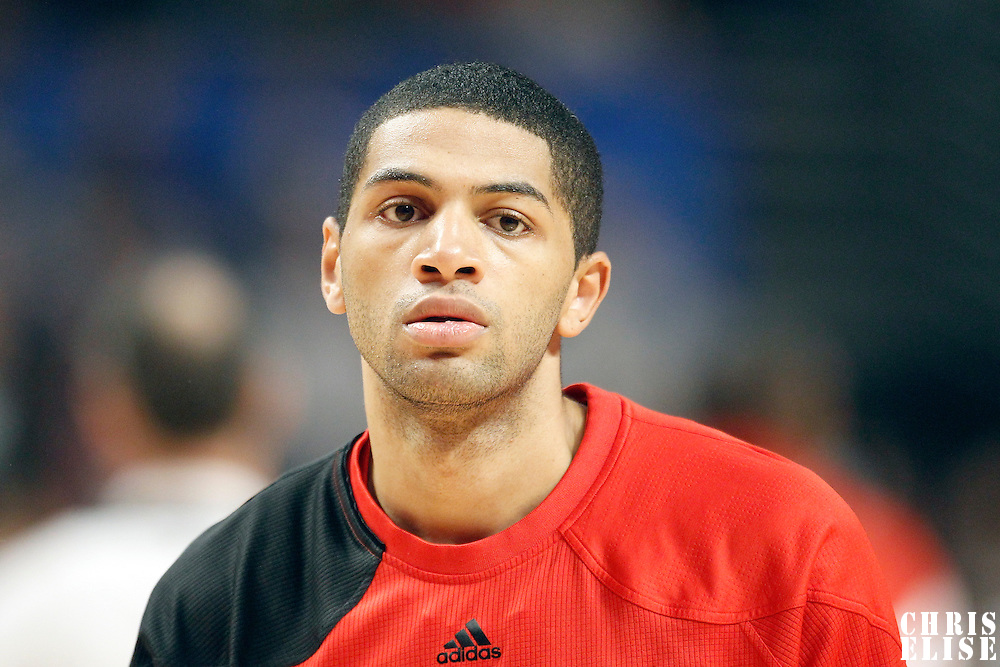 16 March 2012: Portland Trail Blazers small forward Nicolas Batum (88) is seen prior to the Portland Trail Blazers 100-89 victory over the Chicago Bulls at the United Center, Chicago, Illinois, USA.